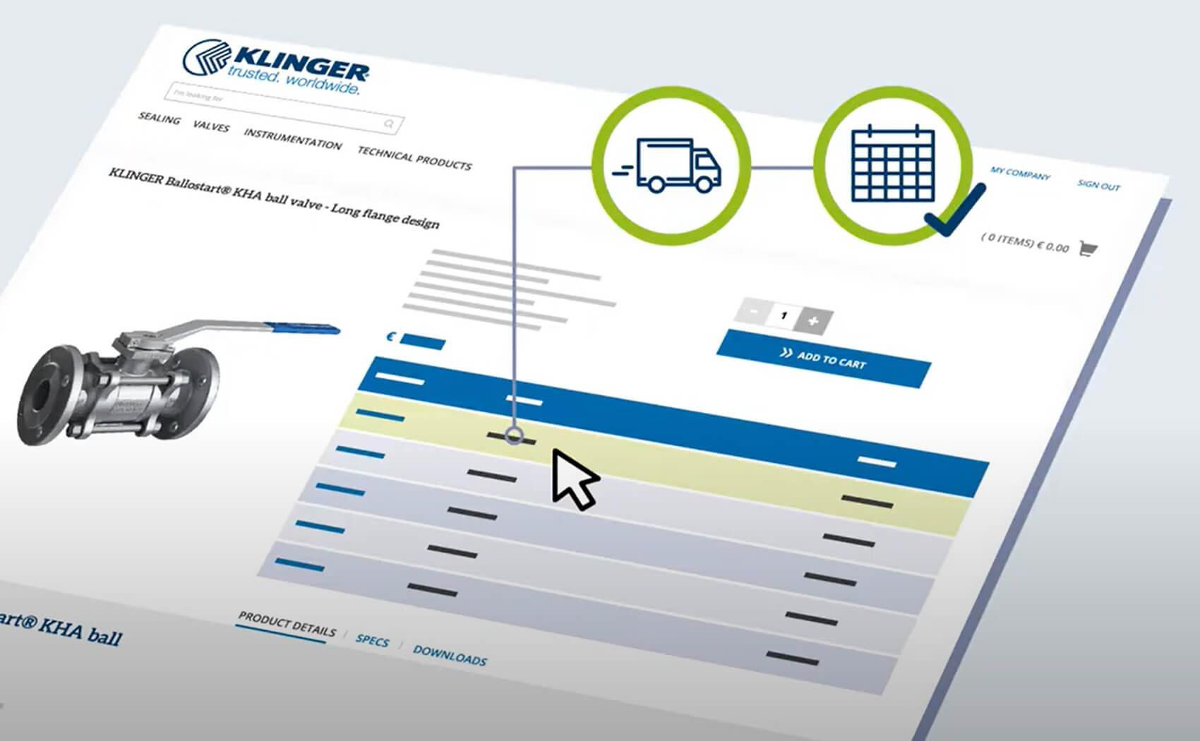 KLINGER Online Shop - B2B Shop for Sealing and Fluid Technology